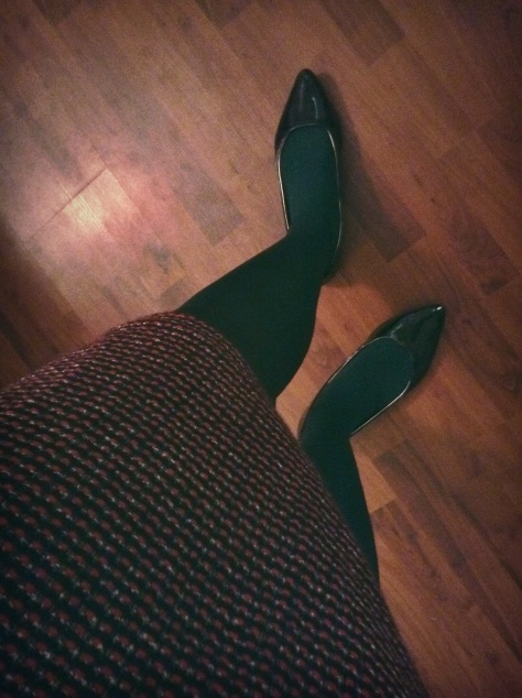 Green is my favorite. The highlight of the outfit!