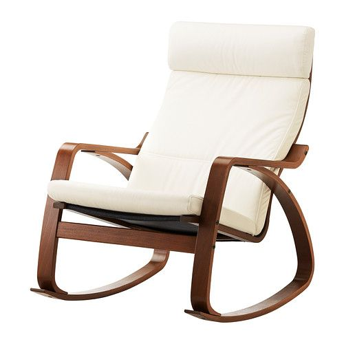 I love rocking chairs and look forward to nursing many hours in this sleek, affordable, cozy Ikea rocker.