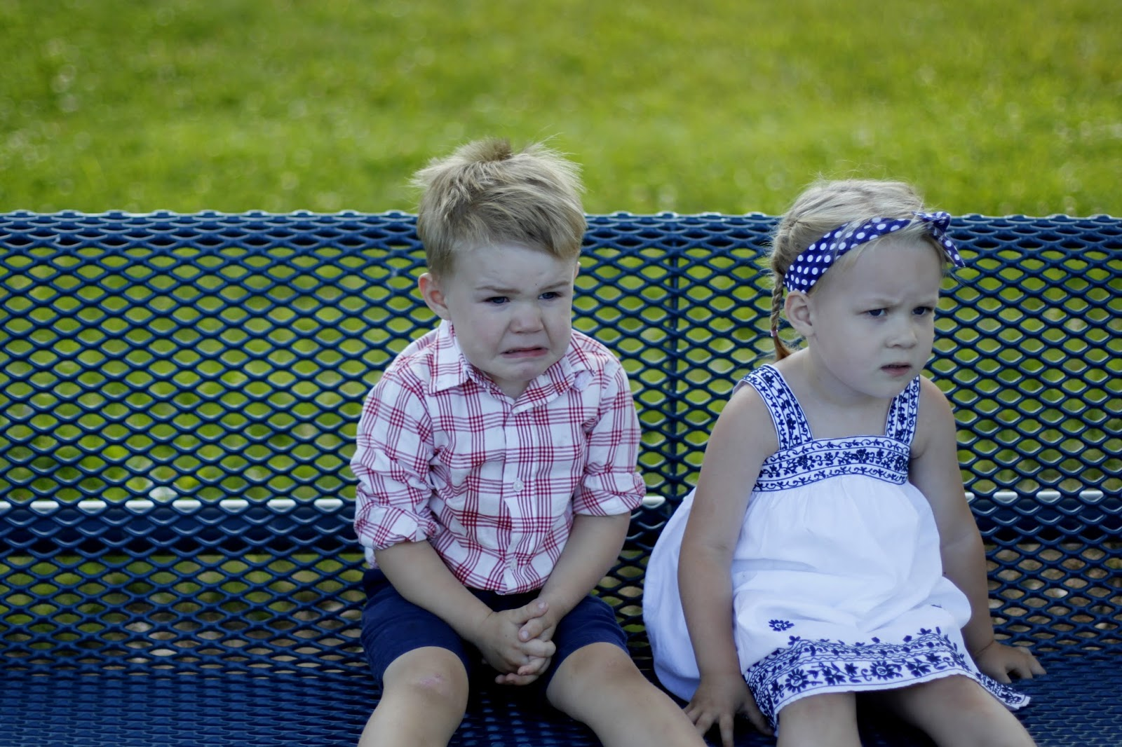 """because nothing says independence like photos of kids in red, white, and blue"""