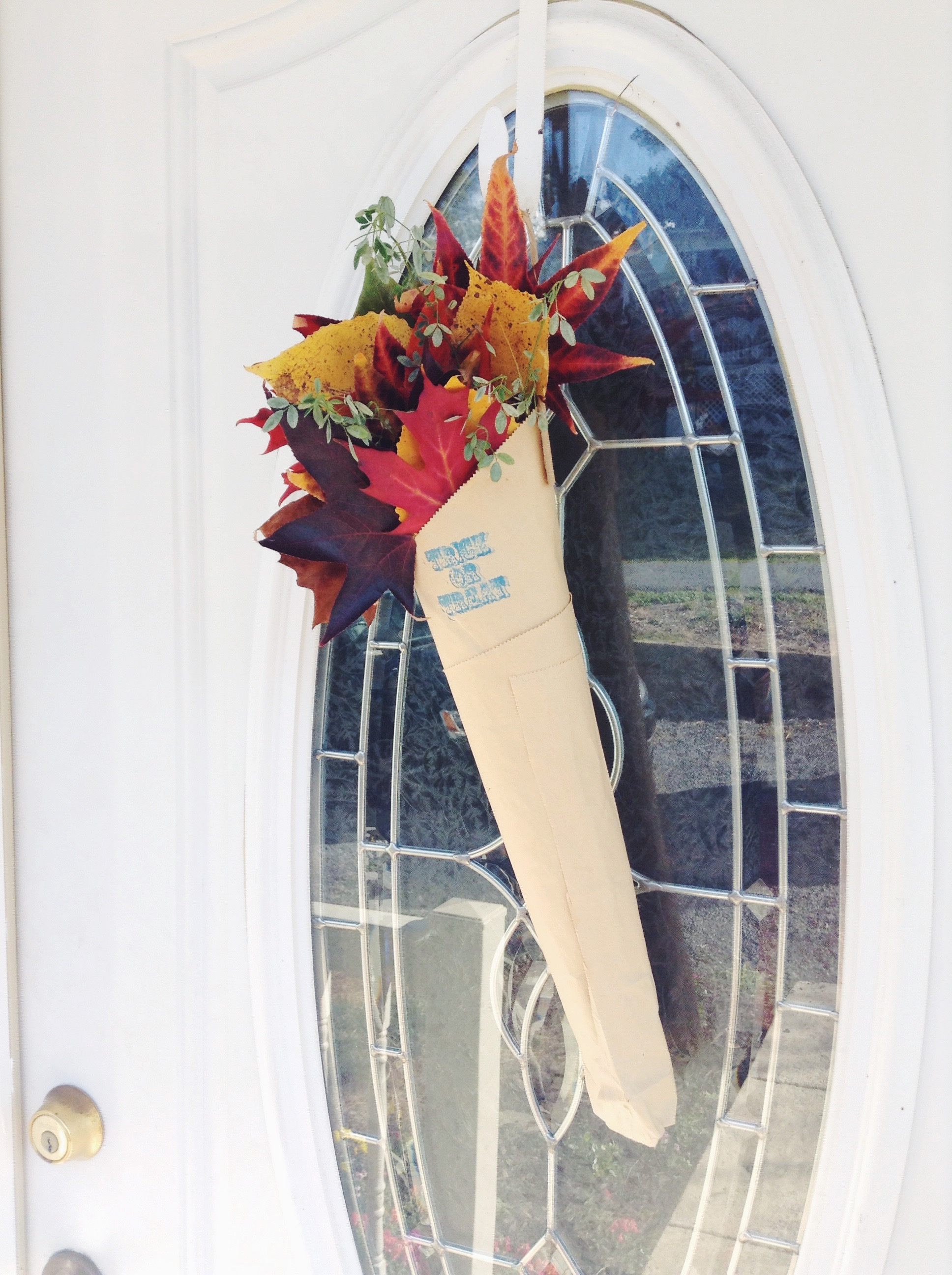 one of my front door fall arrangements